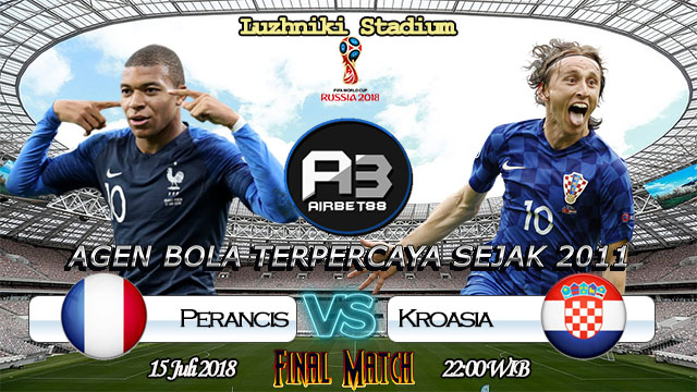 Prediksi Bola Perancis Vs Kroasia 15 Juli 2018
